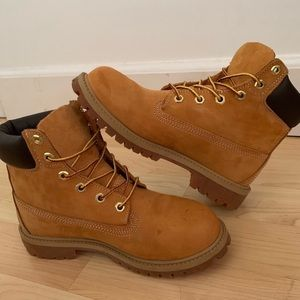 "Timberland 6"" Premium Waterproof Boots Youth 7"
